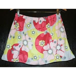 Tail Size Medium Floral Tennis Golf Skirt